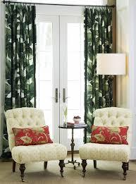 Tropical Curtain Panels Banana Palm Leaf Curtain Panels Dark Green Furnish The Home