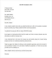 job offer acceptance letter job offer negotiation letter best