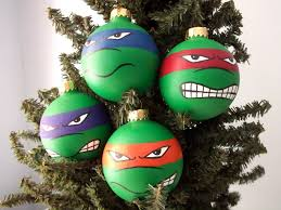 cowabunga this is a hand painted holiday ornament set inspired by