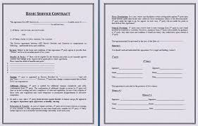 basic services contract service contract template free printable