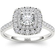 engagement ring walmart in by brides 1 00 carat t w certified cushion