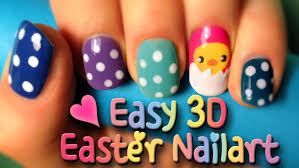 tutorial how to do an easy 3d easter nailart design in