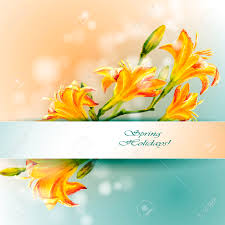 Yellow Lilies Yellow Lilies Flowers Background Spring Flowers Invitation