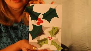 pop up holly christmas card tutorial children u0027s art and craft