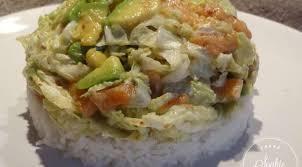 cuisiner chou chinois salade au chou chinois et saumon la tendresse en cuisine