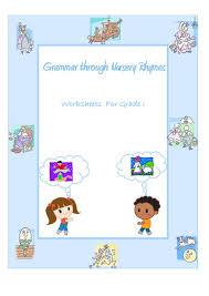 grammar through nursery rhymes noun verb adjective