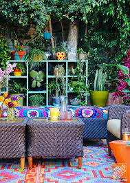 outdoor decoration ideas decorating ideas a lush eclectic bohemian la patio