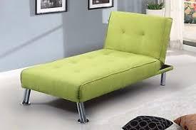 Single Sofa Bed Chair Modern Chaise Lounge Click Clack Single Sofa Bed Chair Lime Green