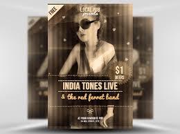 free indie club flyer template psd flyerheroes
