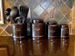 brown kitchen canisters how to paint your ceramic canisters so doing this kitchen