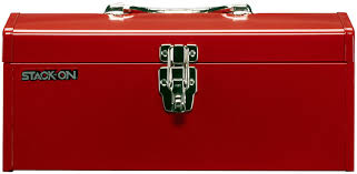 stack on r 516 2 16 inch multi purpose steel tool box red tool