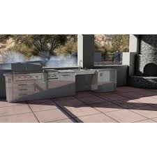 metal kitchen sink and cabinet combo sunstone 44 in x 32 in x 28 25 in stainless steel ada