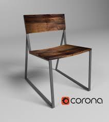 Metal Wood Chair Modern Wood Chair 3d Cgtrader