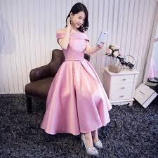 elegant prom party dress a line dresses vestido de festa tea