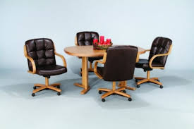 Kitchen Chairs With Rollers by Dinettes Dining Room Furniture Tables U0026 Matching Chair Sets In