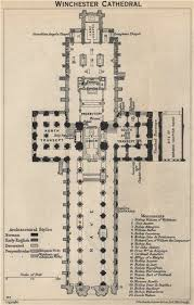 Cathedral Floor Plan Winchester Cathedral Floor Plan Hampshire 1939 Vintage Map