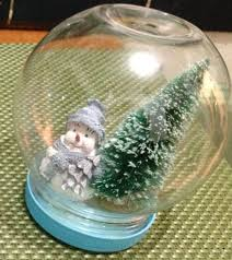 diy glitter snow globe 3 steps