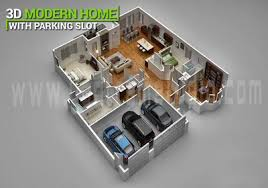 modern home floor plan 3d floor plan design 3d floor plan yantram studio