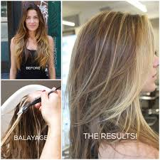 ombre hair growing out a beautiful bronde via balayage career modern salon