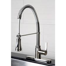 satin nickel kitchen faucets continental modern spiral satin nickel kitchen faucet free