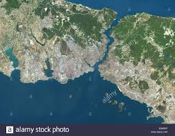 Map Of Istanbul Colour Satellite Image Of Istanbul Turkey Image Taken On July 30