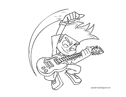 johnny test coloring pages chuckbutt com