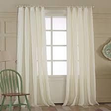 Tab Top Sheer Curtain Panels Tab Top Curtains Amazon Com