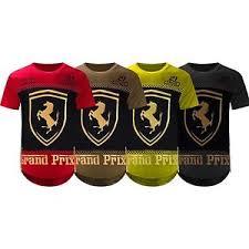 ferrari clothing men new men ferrari shirt side zipper longline shirts 3d gold foil 4