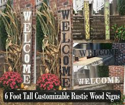 Personalized Home Decor Signs Custom Welcome Signs Rustique Signs Hand Crafted Rustic Wood Signs