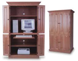 Locking Computer Armoire Best Ideas Of Amish Built Puter Armoire Amish Office Furniture