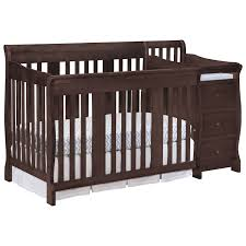 Graco Convertible Crib Bed Rail by Stork Craft Portofino 4 In 1 Fixed Side Convertible Crib Changer