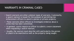 What Happens When You Get A Bench Warrant Warrants In India