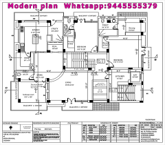 architect floor plan 5 modern residential architecture floor plans house plan