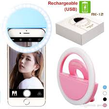 best led ring light rk12 rechargeable selfie ring light with led camera photography