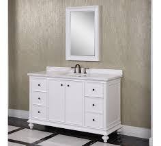 classic wk series 60 inch single sink bathroom vanity white finish