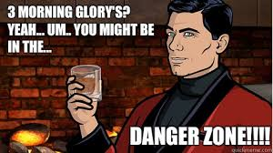 Danger Zone Meme - 3 morning glory s yeah um you might be in the danger zone