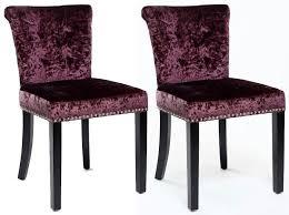Ring Back Dining Chair Buy Shankar Sandringham Crushed Velvet Dining Chair Grape Pair