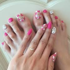 pink and jewels toe nail designs on 30 amazing cute toe nail