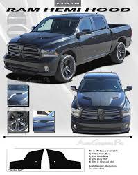 Dodge Ram All Black - 2009 2017 dodge ram hemi hood solid blackout 3m pro vinyl graphic