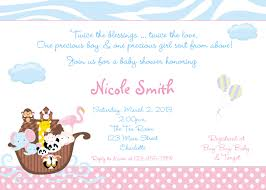 twins noah39 s ark baby shower invitation zazzle