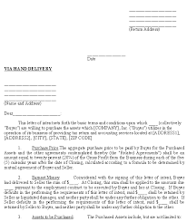 sample letter of intent to purchase assets u2013download free template