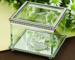 engravable box glass jewelry box etsy
