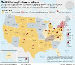 map usa place map the fracking boom state by state insideclimate news