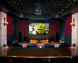 home movie room decor decorating beautiful home theater room with ceiling design full of