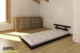 Japanese Low Bed Frame Japanese Low Bed Haru With Tatami Single Bed Version