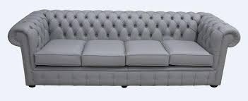 grey chesterfield sofa buy silver grey leather chesterfield sofa uk designersofas4u