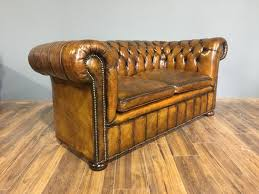 Vintage Chesterfield Leather Sofa Antique Vintage Robinson Of