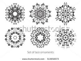 set lace ornaments your design vector stock vector 513658573