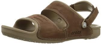 crocs men u0027s yukon two strap sand open toe sandals black black 9