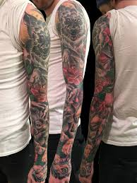 a family of wolves sleeve by frank ready tattoonow